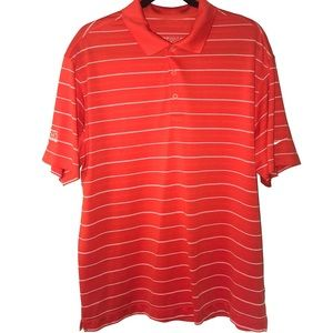Nike Golf Dri Fit Polo Shirt Mens L Orange